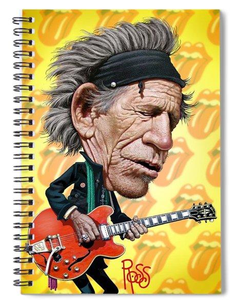 Keith Richards Spiral Notebook