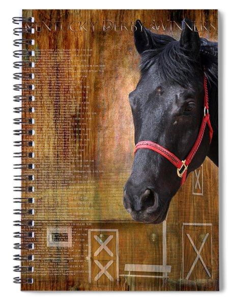 Kentucky Derby Winners Spiral Notebook