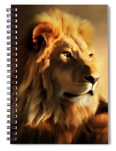 King Lion Of Africa Spiral Notebook