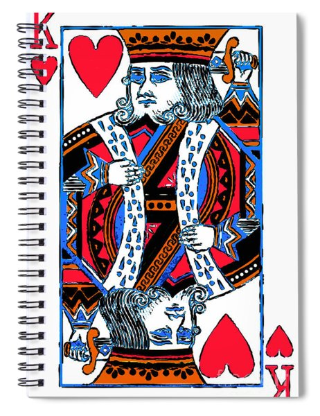 King Of Hearts 20140301 Spiral Notebook