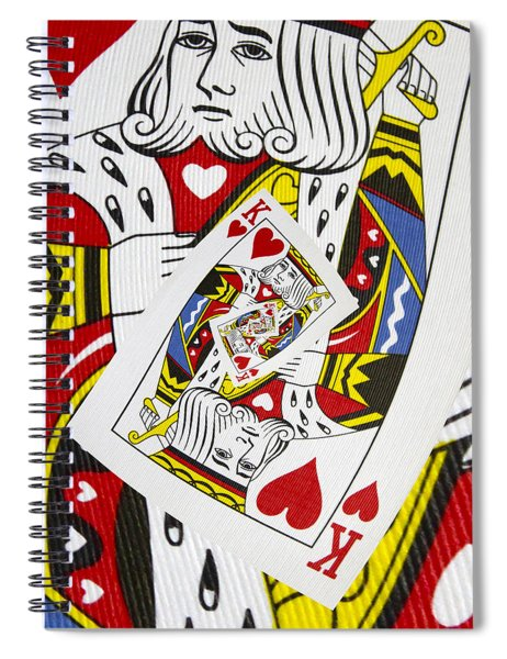 King Of Hearts Collage Spiral Notebook