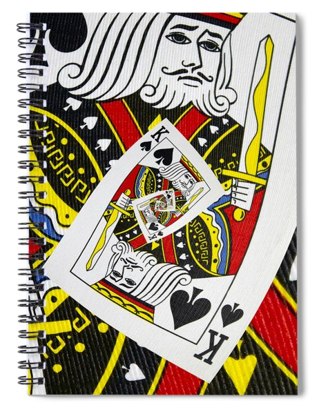 King Of Spades Collage Spiral Notebook