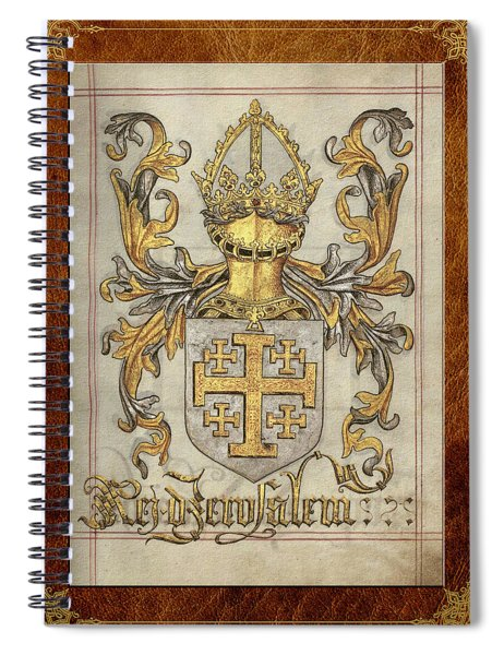 Kingdom Of Jerusalem Medieval Coat Of Arms  Spiral Notebook