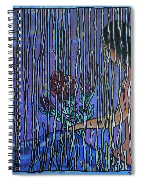 Kissing Rain Spiral Notebook