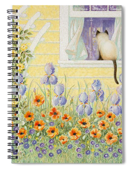 Kitty In The Window Spiral Notebook