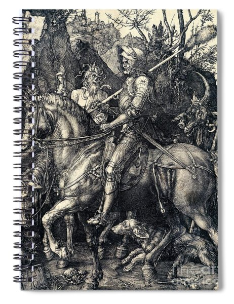 Knight Death And The Devil Spiral Notebook
