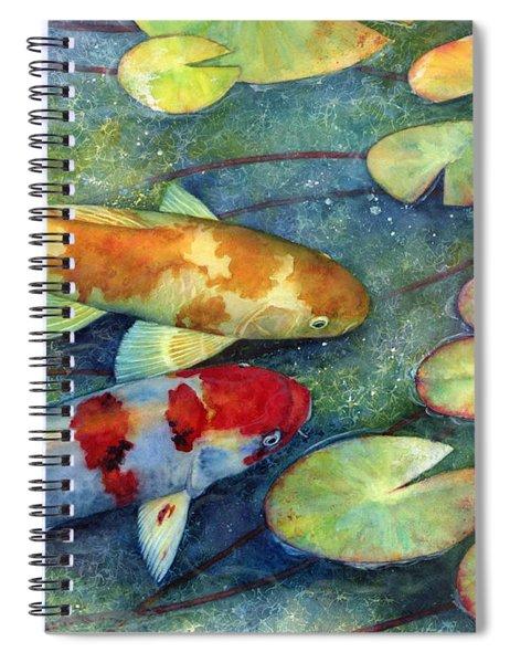 Koi Garden Spiral Notebook