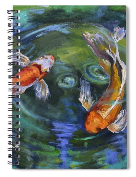 Koi Swirl Spiral Notebook