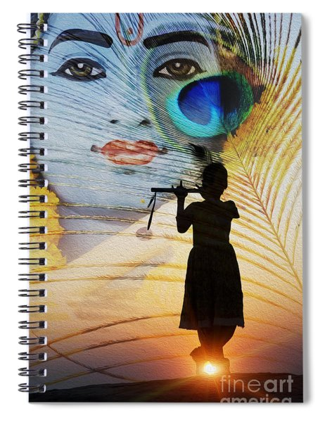 Spiral Notebook featuring the photograph Krishna Jai by Tim Gainey