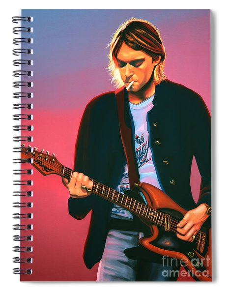 Kurt Cobain In Nirvana Painting Spiral Notebook