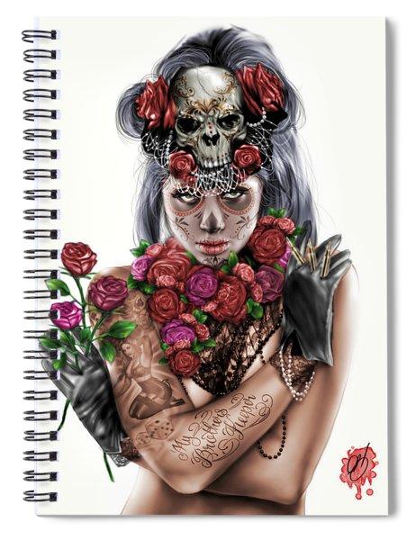 La Calavera Catrina Spiral Notebook