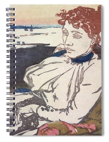 La Convalescante Mademoiselle Lepere Spiral Notebook