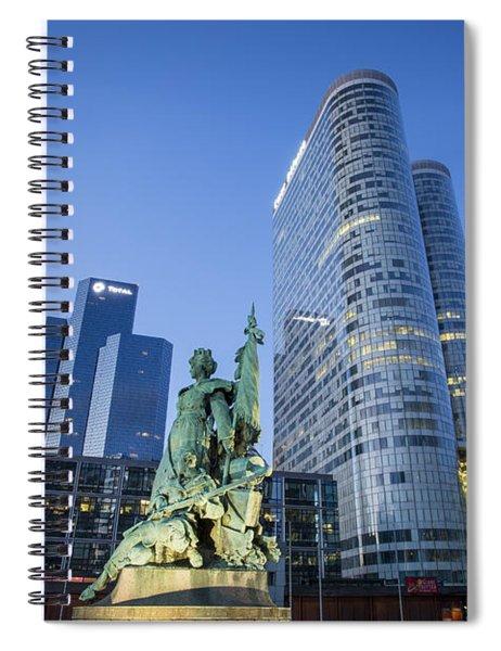 La Defense Memorial Spiral Notebook by Brian Jannsen