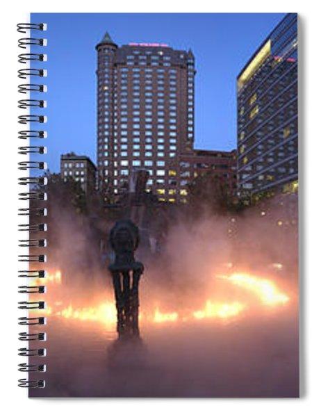 La Joute By Jean-paul Riopelle Spiral Notebook