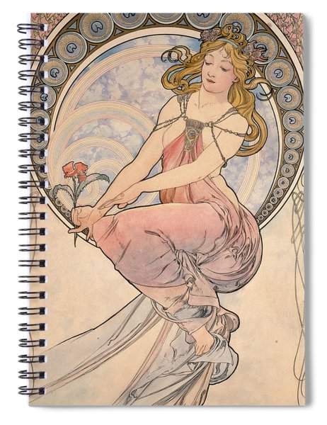 La Peinture, 1898 Watercolour On Card Spiral Notebook