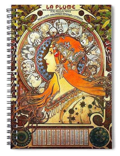 La Plume Zodiac Spiral Notebook