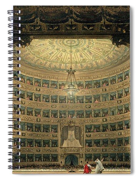 La Scala, Milan, During A Performance Spiral Notebook