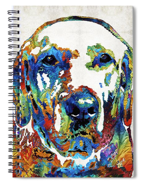 Labrador Retriever Art - Play With Me - By Sharon Cummings Spiral Notebook