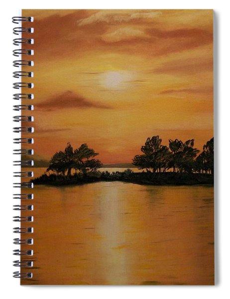 Lac La Biche  Sunset Spiral Notebook
