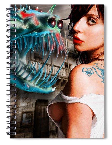 Lady Gaga And Angler Fish Spiral Notebook