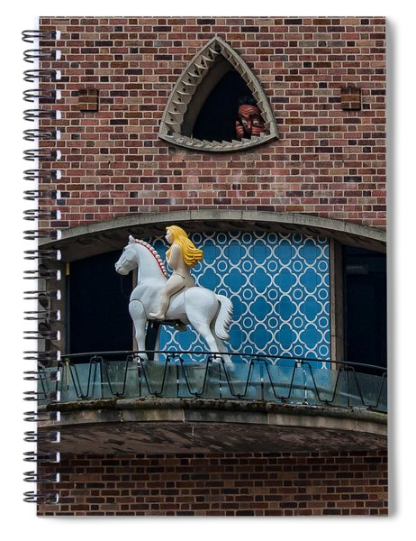 Lady Godiva And Peeping Tom Spiral Notebook