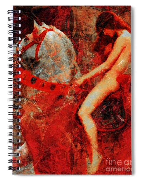 Lady Godiva Revisited 20140315 Spiral Notebook