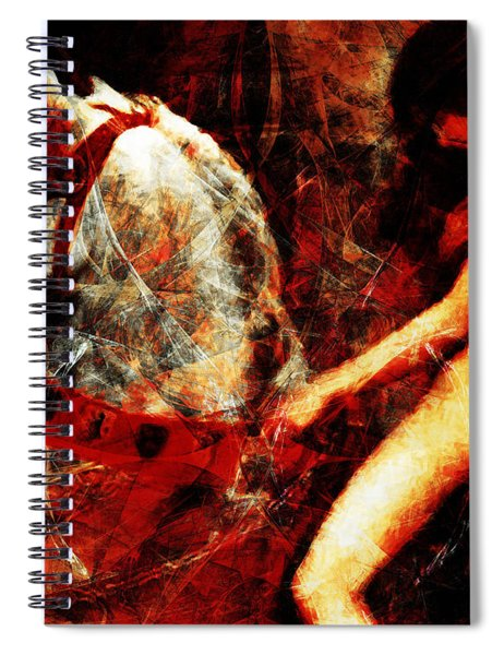 Lady Godiva Revisited 20140315v2 Horizontal Spiral Notebook