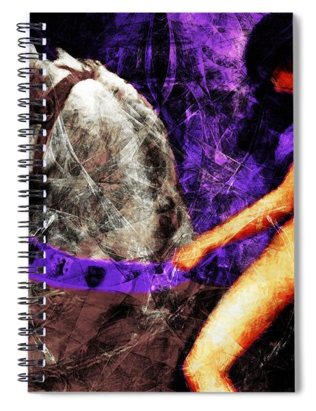 Lady Godiva Revisited 20140315v2c3 Horizontal Spiral Notebook