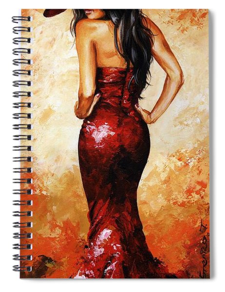 Lady In Red 035 Spiral Notebook