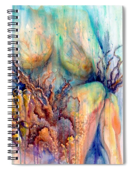 Lady In The Reef Spiral Notebook