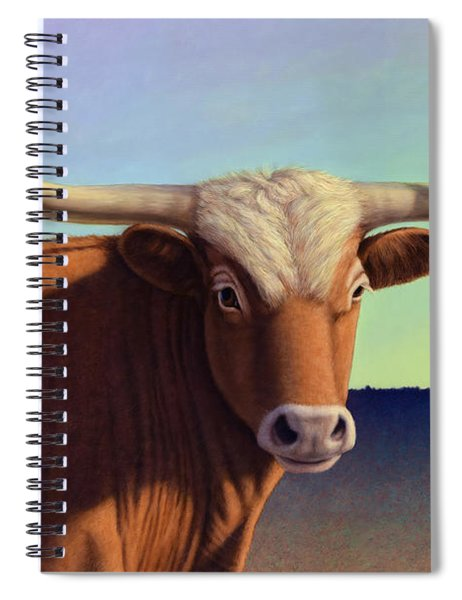 Spiral Notebook featuring the painting Lady Longhorn by James W Johnson