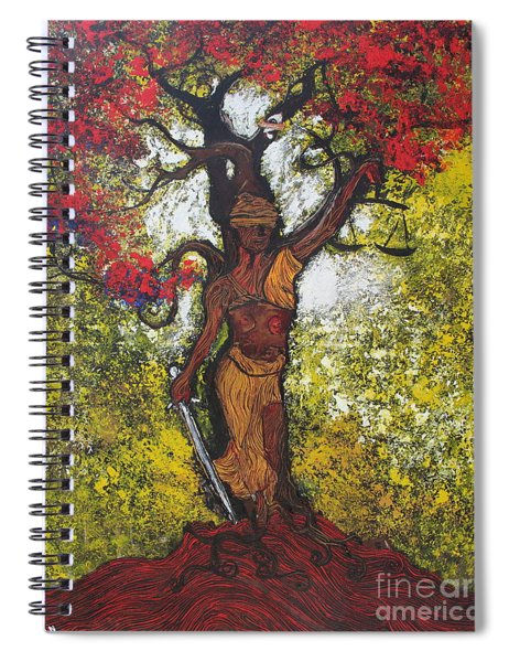 Lady Of Justice Spiral Notebook