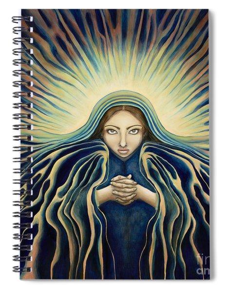 Lady Of Light Spiral Notebook