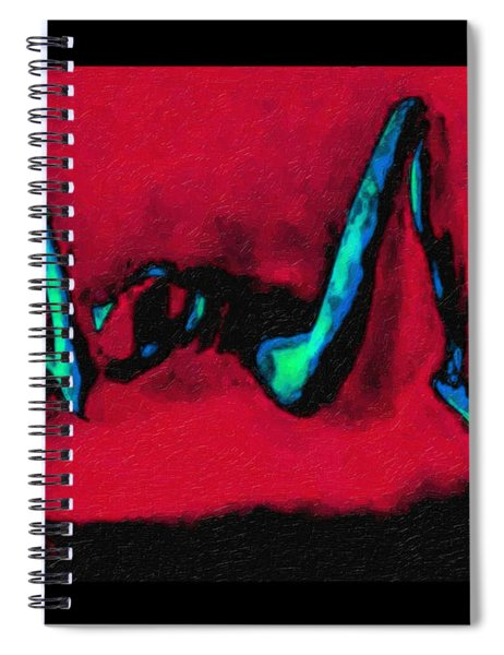 Lady On Red Spiral Notebook