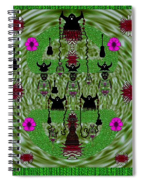 Lady Panda And Her Heavy Metal Band Spiral Notebook