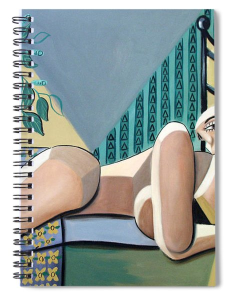 Lady With A Green Thumb Spiral Notebook