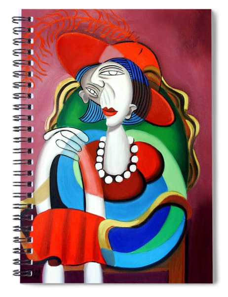 Lady With A Red Hat Spiral Notebook