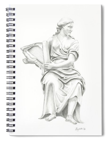 Lady With Harp II Spiral Notebook