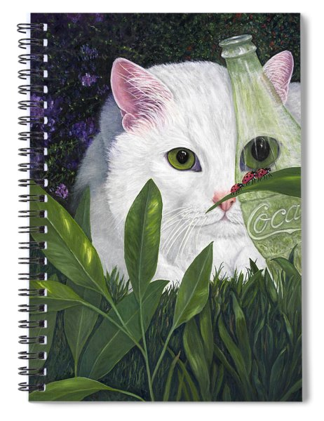 Ladybugs And Cat Spiral Notebook