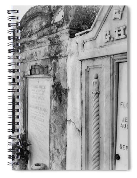 Lafayette Cemetery Black And White Spiral Notebook