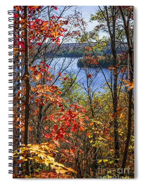 Lake And Fall Forest Spiral Notebook