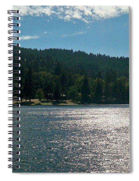 Scenic Lake Photography In Crestline California At Lake Gregory Spiral Notebook by Ai P Nilson
