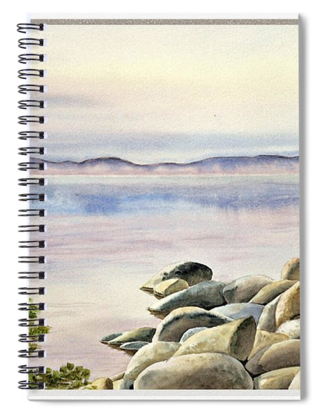 Lake House Window View Spiral Notebook
