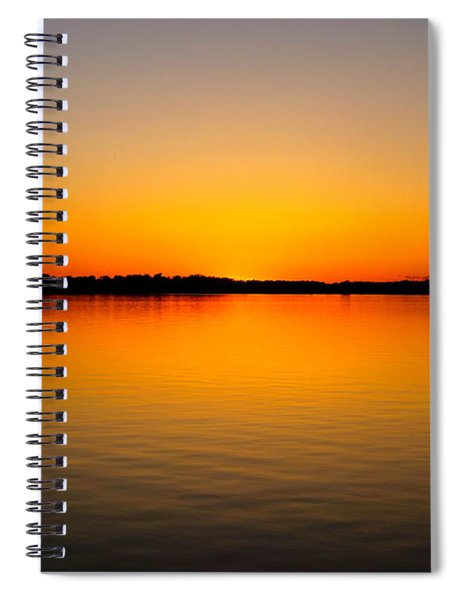 Lake Independence Sunset Spiral Notebook