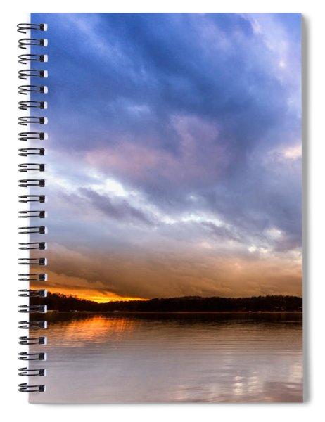 Lake Lanier Sunset Spiral Notebook