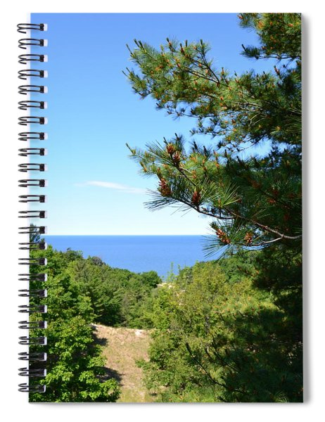 Lake Michigan From The Top Of The Dune Spiral Notebook