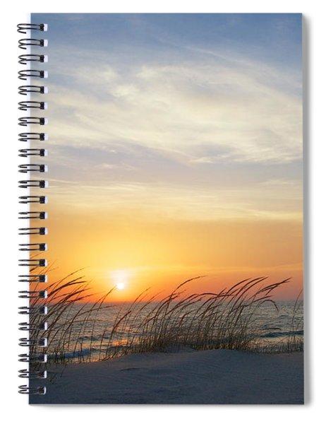 Lake Michigan Sunset With Dune Grass Spiral Notebook