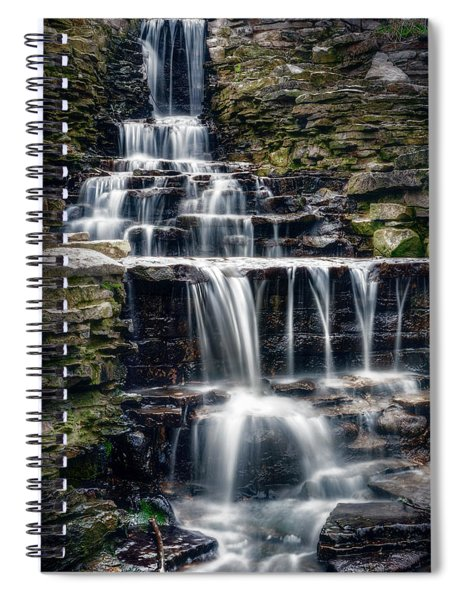 Lake Park Waterfall Spiral Notebook