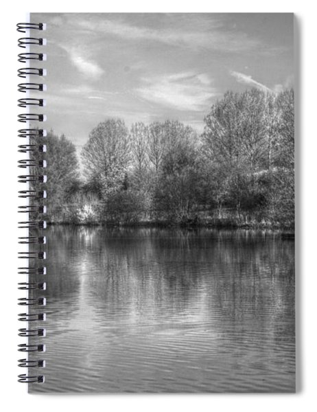 Lake Reflections Mono Spiral Notebook