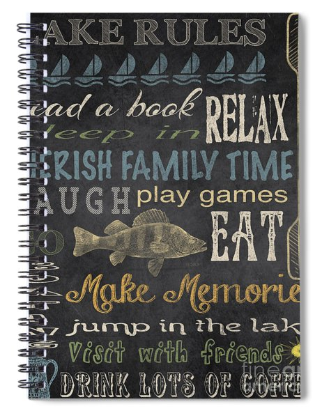 Lake Rules-relax Spiral Notebook